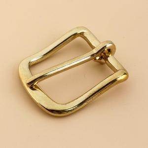 Solid Brass Belt Buckle End Bar Heel bar Buckle Single Pin Belt Half Buckle For Leather Craft Bag Strap Jeans Webbing Dog Collar(China)