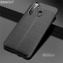 For OPPO Realme Q Case shockproof Soft Silicone Luxury Leather Phone Cover 6.3 BSNOVT