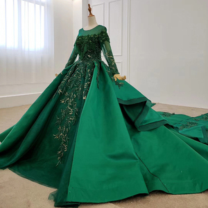 Image 2 - HTL1165 女性イブニングドレス o ネックアップリケスパンコールパターンの房の高級長袖新イブニングドレス vestidos デ · フェスタロンゴ
