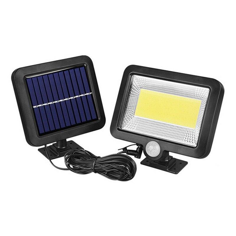 100 led de energia solar sensor de movimento holofote jardim ao ar livre pir luz m25