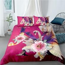 Swan Bedding Set For Girls Romantic Sweet 3D Flowers Duvet Cover King Queen Twin Full Single Double Unique Design Bed Set bedding set полутораспальный сайлид red flowers