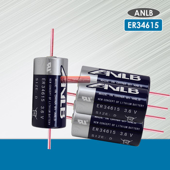 5PCS ANLB ER34615 ER34615M 3.6V 19000mAh D type lithium battery With Pins primary batterycapacity for smart card meter