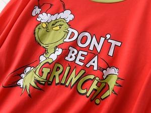 Image 4 - מכירה לוהטת חג המולד נשים פיג בתוספת גודל החורף לסרוג כותנה סטי פיג מה נשים טרי ירוק ארוך שרוול מזדמן הלבשת נשים