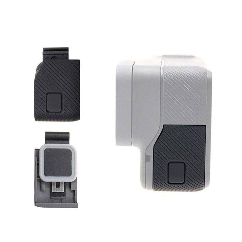 Substituição porta lateral USB-C mini hdmi porta lateral capa parte de reparo para gopro hero 6 5 7 preto ação acessório da câmera preto