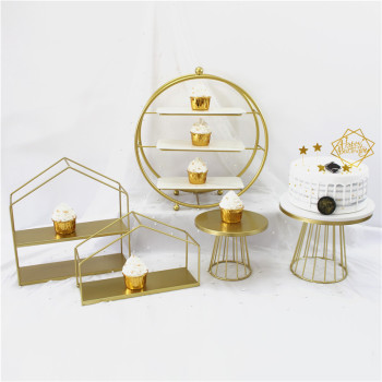 New White Cake Stand Metal Dessert Table Cake Tray Christmas Birthday Party Macaron Cupcake Rack Stand For Wedding Gold white crystal metal cake stand set cupcake rack dessert display holder party wedding table decorations