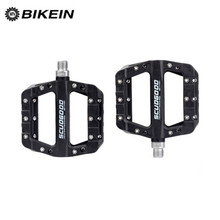 BIKEIN Ultralight Cycling BMX Bicycle Pedals Mountain Bike Nylon 9/16 Inch Multi-Colors Flat Platform MTB Accessories