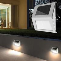 LED 태양 계단 빛 정원 마당 방수 스테인레스 스틸 야외 장식 방수 정원 통로 계단 램프 야외 램프