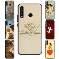 Angel Cupido arte pintura funda para Huawei Honor 8X 9X 9 10 Lite 20 Pro 10i V20 7A Pro 8A 8C Nova 5T Y9 Y7 Y6 2019