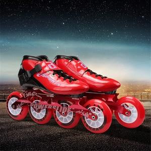 Image 4 - ISPORTS 속도 인라인 스케이트 탄소 섬유 경쟁 스케이트 3*125mm 또는 4*100/110mm 스트리트 레이싱 스케이트 Patines 롤러 블레이드 SH56