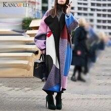 KANCOOLD, новинка, Осень-зима, длинный Тренч, куртка для женщин, повседневное клетчатое пальто, толстые теплые куртки с карманами, пальто и куртка, верхняя одежда