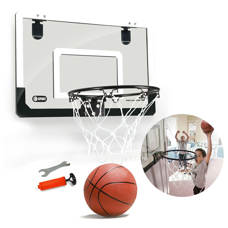 Hanging Gantry Basketball Board Hole Punched Transparent Hanging Mini Small Backboard Mini Basketball Hoop