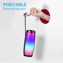 Loa di động Bluetooth ĐÈN LED Không Dây Loa 10W 3D Nhạc Stereo Vòm Hỗ Trợ Loa Siêu Trầm FM Thẻ TF Loa Nghe Nhạc Ngoài Trời