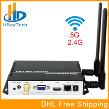 Wireless H.265 H.264 HDMI VGA CVBS Decoder WIFI HD Video IP Streaming Decoder HTTP RTSP RTMP UDP HLS To HDMI VGA CVBS Receiver