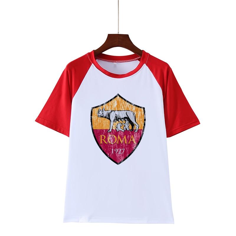 AS Roma 1927 Logo Men's T-shirt Short Sleeve Casual T-shirts Tee Fashion Design O-Neck Short-Sleeved Printing Machine Tshirts