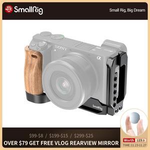 Image 1 - SmallRig A6400 L braketi plaka ile ahşap saplı Sony A6400/A6300/A6100 arca swiss standart L plaka montaj plakası 2331