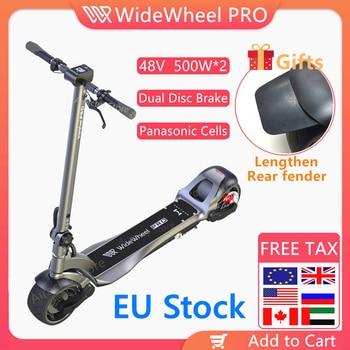 EU Stock 2020 Mercane Wide Wheel Pro Smart Electric Scooter 48V 1000W Kickscooter Dual Motor e scooter Disc Brake Skate board