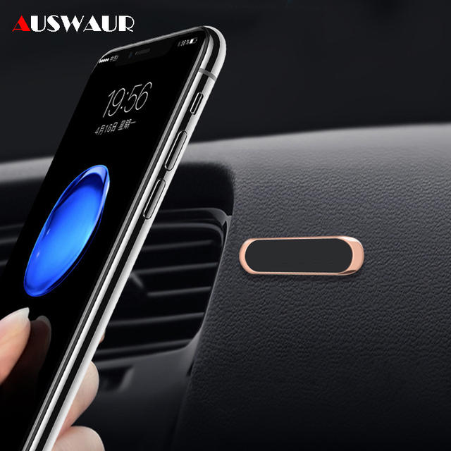 Mini Strip Shape Magnetic Car Phone Holder for iPhone Huawei Samsung Flat Wall Metal Magnetic Car GPS Dashboard Mount Holder