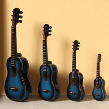 Миниатюрный деревянный электрогитарный инструмент, миниатюрный деревянный электрогитарный инструмент, декорация, распределительный черный ящик, украшение кронштейна