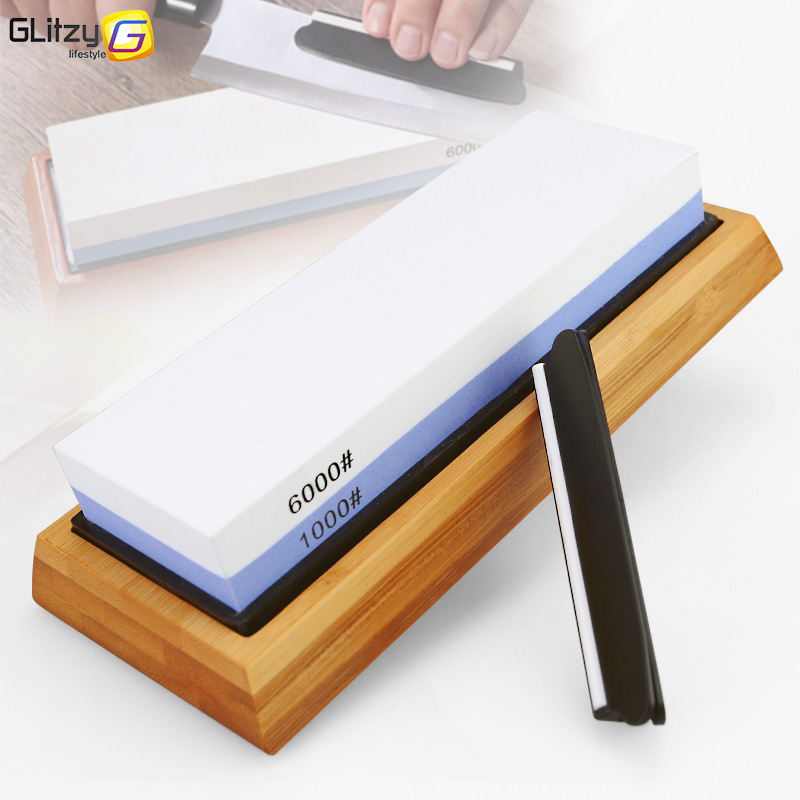 Knife Sharpener <font><b>Stone</b></font> Dual Side Whetstone Professional Kitchen <font><b>Sharpening</b></font> Grinder Oilstone 240 400 <font><b>600</b></font> 800 <font><b>1000</b></font> 6000# Honing Set image