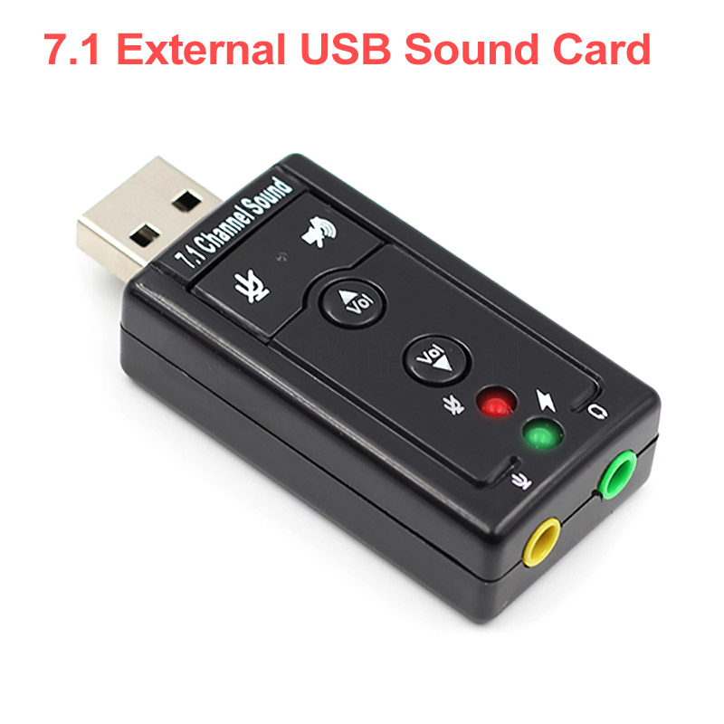 7.1 External USB Sound Card USB To Jack 3.5mm Headphone Audio Adapter Free Drive Micphone Sound Card USB Audio Adapter