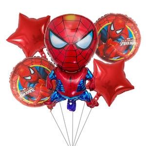 Image 2 - 5pcs superhero Spider man Avengers Batman Captain America Foil Balloons Birthday Party decoration Air balloon Kids Toys balloon