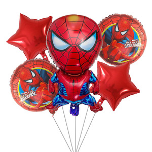 Image 2 - 5pcs גיבור איש עכביש הנוקמים באטמן קפטן אמריקה לסכל בלוני מסיבת יום הולדת קישוט אוויר בלון ילדים צעצועי בלון