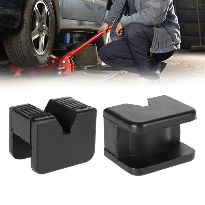 Universal Square Slotted Frame Rail Floor Jack Guard Adapter Pad For Vehicle Repair