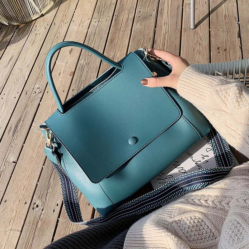 Solid Color Large Capacity Handbags For Women 2020 Female Shoulder Messenger Bag Retro Daily Totes Lady Elegant Handbags