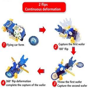 Image 5 - Screechers wild burst flips, pegatinas de transformación, figuras de acción de anime de robot, chip de captura de cazador, oblea, juguetes para niños y niñas