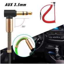 3.5 Jack Aux Cable 3.5mm Car Spring Audio Cable Gold Plated jack male to male speaker cables for Headphone Speaker(China)