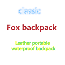 2019 New FOX backpack waterproof fashion brand youth canvas