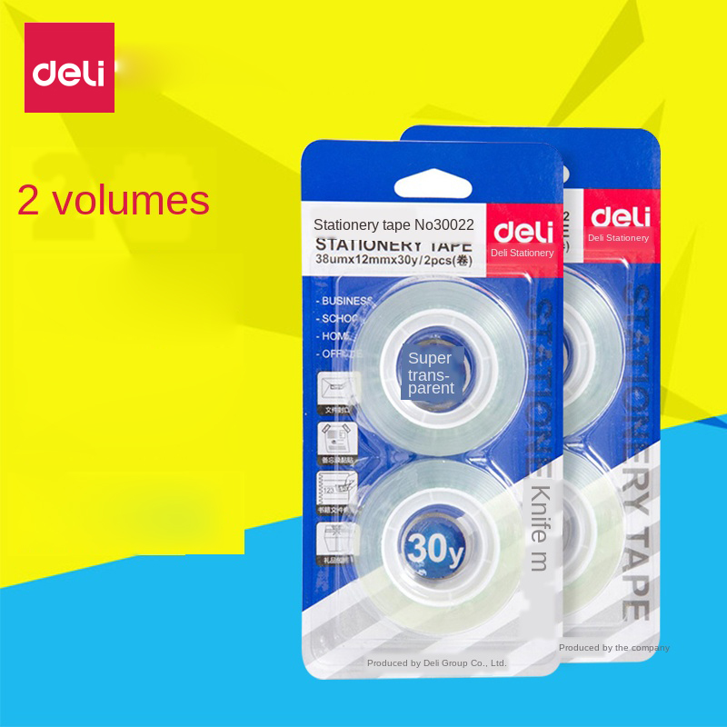 Stationery Transparent Tape School Office Transparent Tape Clear Sealing  Tape Students Supplies Stationery Tapes 2 Rolls / Card