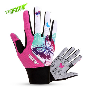 BATFOX-Guantes de Ciclismo de medio dedo para mujer, color rosa, para Ciclismo...