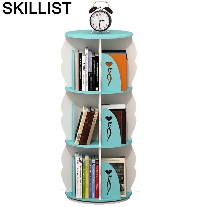 Mobili Per La Casa Storage Dekoration Libreria Legno Rotatable Rotate Home Furniture Modern Librero Bookcase Book Case Rack