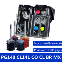 PG140 CL141 for canon MG2580 MG2400 MG2500 IP2880 ink printer Compatible Refillable Ink Cartridge