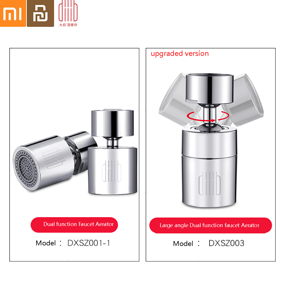 Diiib Dabai Kitchen Faucet Aerator Water Tap Nozzle Bubbler Water Saving Filter 360-Degree Double Function 2-Flow Splash-proof