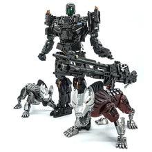Figurine à mâchoires en acier de Transformation VT 01 VT01, en alliage KO, Robot daction, jouet visuel avec deux chiens, jouets de déformation, cadeaux
