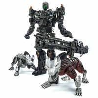VT-01 VT01 Steeljaw Lockdow transformacja stop Metal KO VS UT R01 figurka Robot wizualna zabawka z dwoma psami