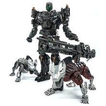 التحول قفل VT 01 VT01 ستيلالفك سبيكة معدنية كو عمل الشكل روبوت لعبة البصرية مع اثنين من الكلاب تشوه اللعب الهدايا