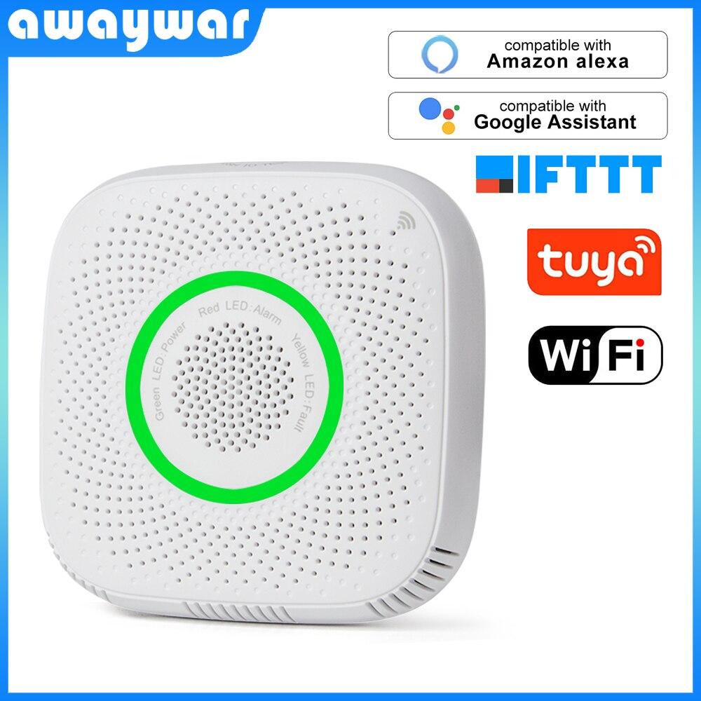 Tuya WiFi GAS LPG Leak Sensor Alarm Fire Security Detector APP Control Smart Home Safety Leakage Sensor