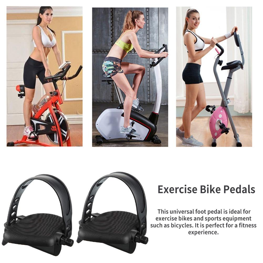 Galleria fotografica 1 Pair Fitness Bike Pedal Set Anti-slip Pedals Strap High Quality Pedal Set For Gym Bicycle Sports Equipment Accessories