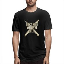 Off white T shirt Dont Mess With The Chef Mens Short Sleeve T-shirt tags1 tshirt Rrinted 100 Percent Cotton