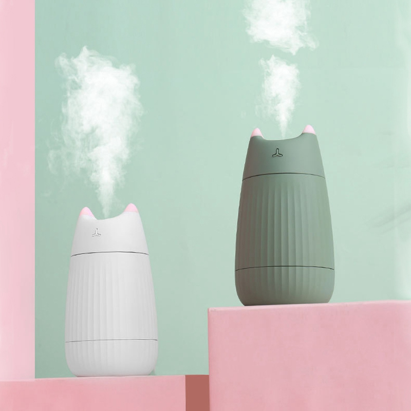 Cat Shape Humidifier Ultrasonic Essential Oil Diffuser USB 200ML Aromatherapy Air Purifier for Home Car Freshener Mist Maker|Humidifiers| |  - title=