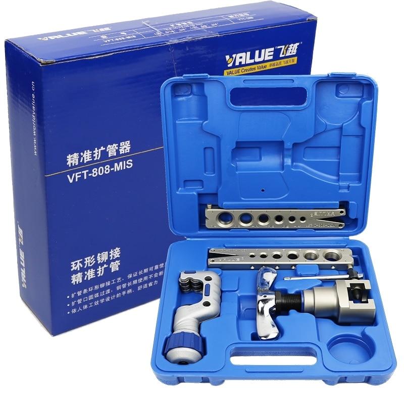 Соотношение цена/качество эксцентриковый Медь трубки инструмент для развальцовки труб Kit с резак для трубы кондиционера для HAVC инструменты...