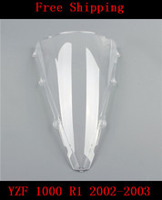 цена на YZF 1000 Motorcycle Double bubble windshield windscreen White For Yamaha YZF 1000 R1 2002-2003 YZF-R1 YZF R1000