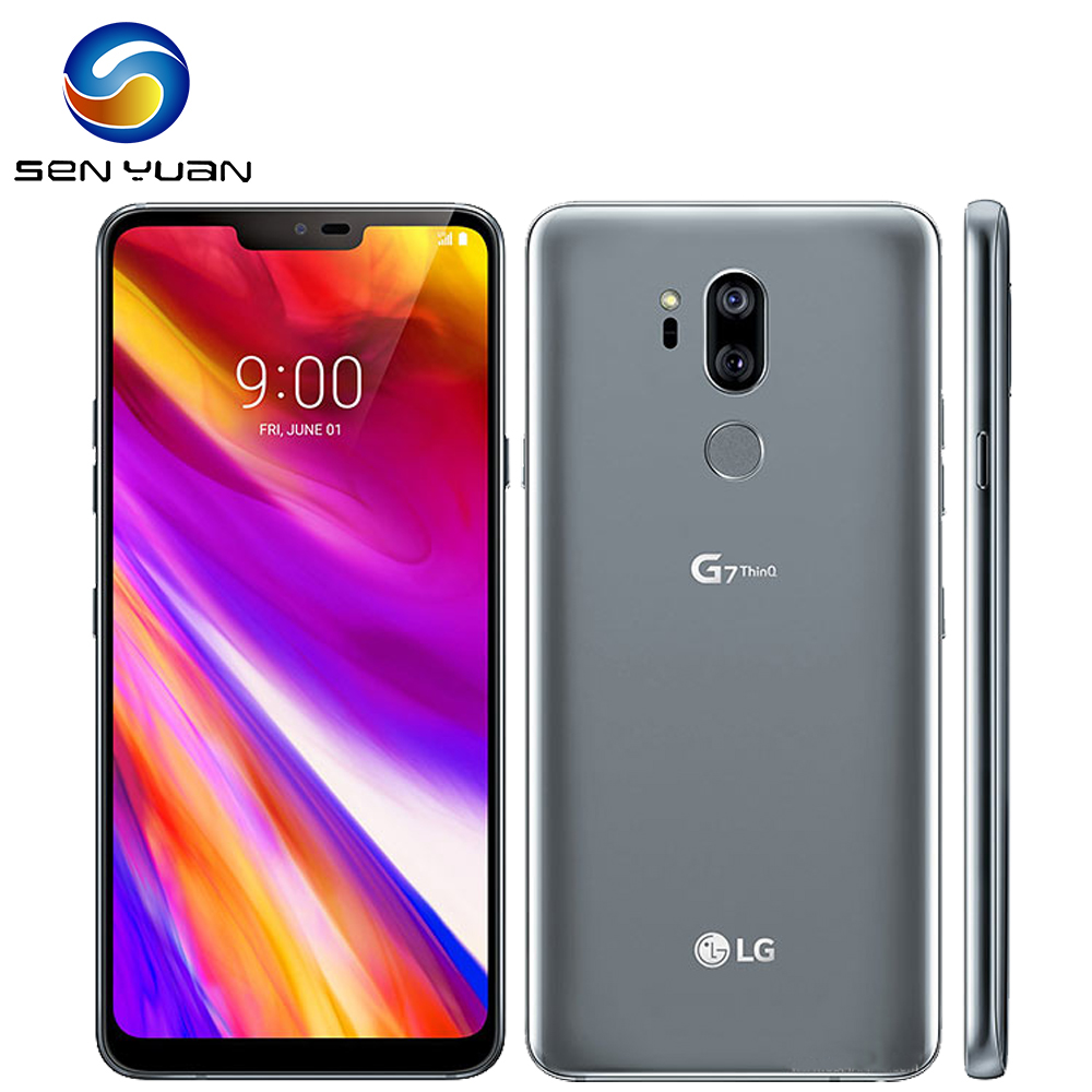 """Unlocked LG G7 ThinQ G710N 64G/128G 4G Snapdragon 845 LTE Android Octa Core Rear Camera Dual 16MP 2160P 6.1"""" Mobile Phone