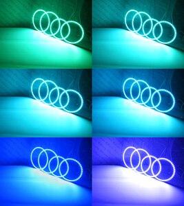 Image 5 - RF zdalny Bluetooth aplikacji wielu kolorów Ultra jasny RGB zestaw LED oczy anioła dla FIAT PUNTO 188 Mk2 2003 i staje w sytuacji sam na sam Facelift reflektor