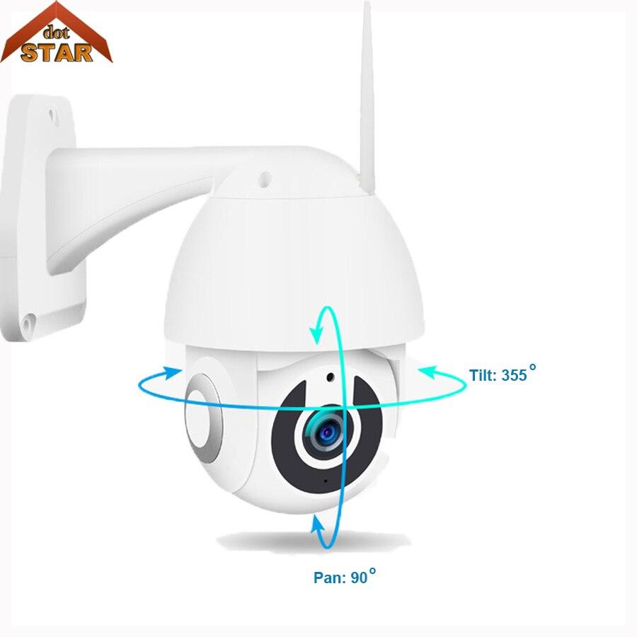 Ao ar livre IP PTZ Câmera Speed Dome 1080P Câmeras de Vigilância de Monitoramento Automático À Prova D' Água Onvif Sem Fio Wi-fi Câmera De Rede De Segurança