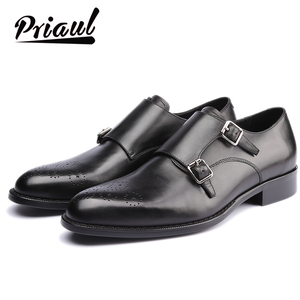 Leather Shoes Men Oxford Real