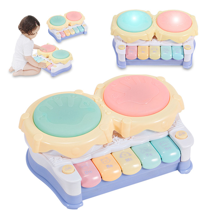 Infants Kids Music Drum Children Music Hand Drum Light Electronic Drum Electronic Keyboard GIRL'S And BOY'S Toy